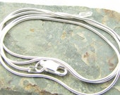 20 inch sterling silver snake chain necklace