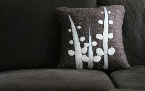 Fern - Handfelted Pillow