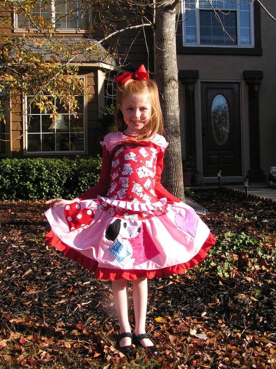 2Pc Valentine Snoopy love set Valentine skirt Valentine outfit