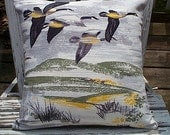 "Migration bolster pillow cover 21x13"" - eco vintage fabrics - Custom order, Reserved for J. thru 10/26"