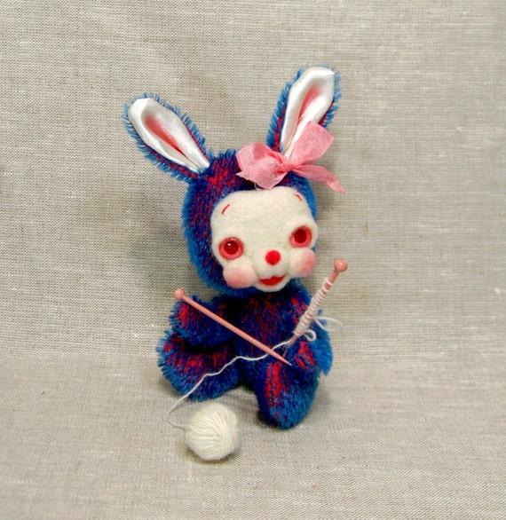 Dixie the Knitting Mohair Bunny