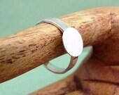 Adjustable Sterling Silver Ring Blank 3mm modern band