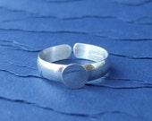 Adjustable Sterling Silver Ring Blank