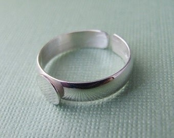 Sterling Silver Ring Blank with Pad - Adjustable Style - .925 Premium Quality Finding