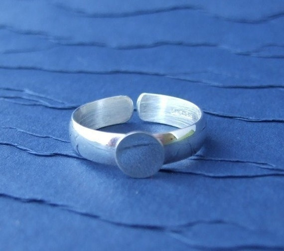 Adjustable Sterling Silver Ring Blank