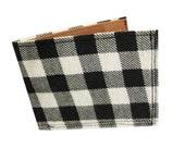 Flannel ) White ) Bifold Wallet