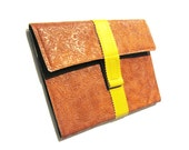 iPad Case with Stand )) Brown and Yellow  ((Fits 2G, 3G))