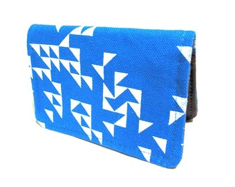 Triangles ) Blue ) Slim Wallet