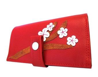 Cherry Blossom ) Pocketbook Slash Checkbook Wallet