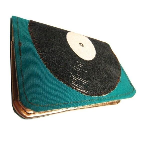 Record ) Slim Wallet ((Teal))