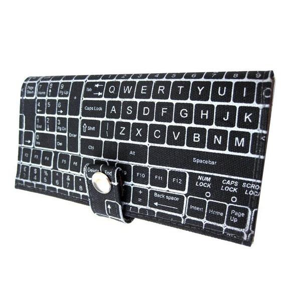 QWERTY ) Pocketbook Slash Checkbook Wallet