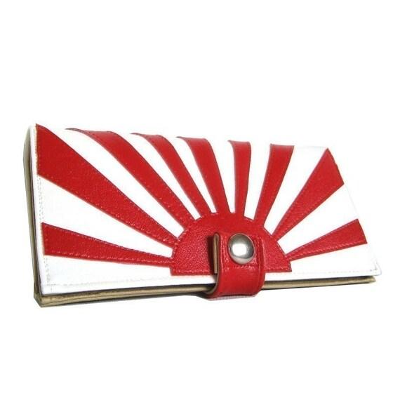 Rising Sun ) Pocketbook Slash Checkbook Holder