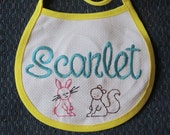 Custom-made Hand-stitched Embroidered Baby Bib