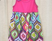 Tank Top Dress Pink 6X