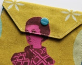 Snappy Card Holder - Vintage Lady - New Fabric