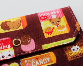 Lg Snappy Pouch - Candy Kitten and Chihuahua - Brown - New Fabric