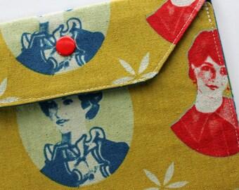 Lg Snap Wallet - Vintage Ladies - New Fabric