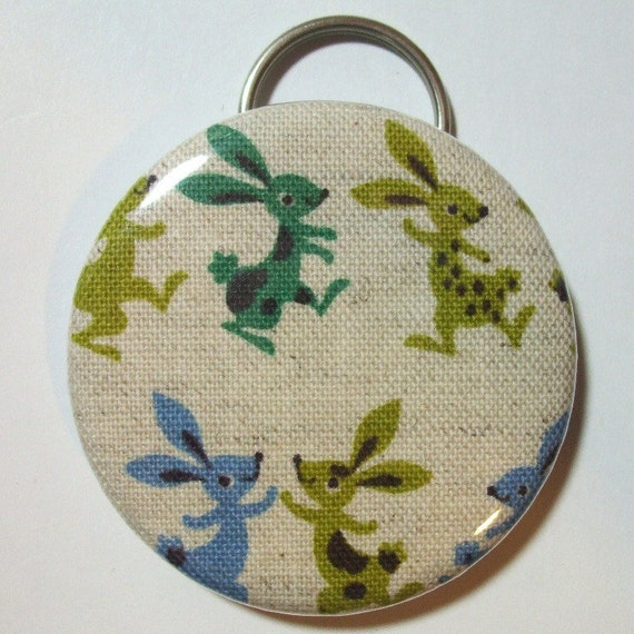 Bottle Opener - Dancing Hares - 2.25 inch - new fabric