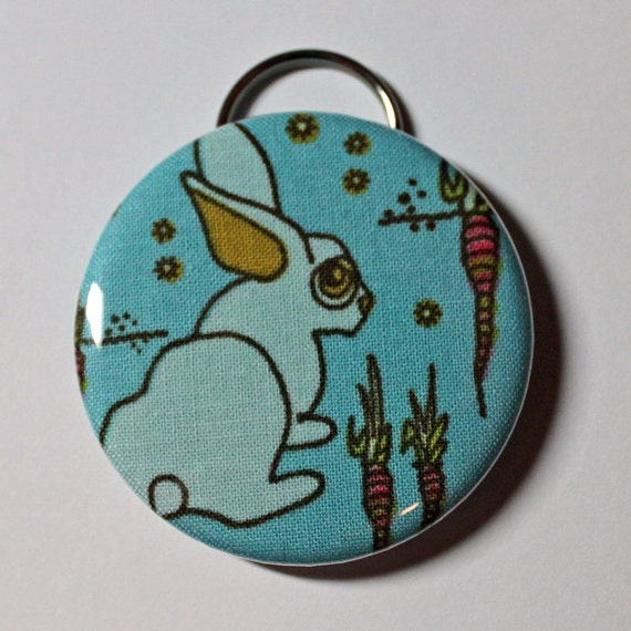 Bottle Opener - Zombie Bunny - 2.25 inch - new fabric - Buy 3, get 4th free