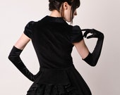 Sample Sale Black Gothic Steam Punk Victorian Special Jacket with Bustle size S-M