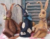Primitive E-Pattern Grungy Bunny Rabbit and Carrot Doll PDF
