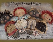 EPATTERN - Primitive Raggedy and  Dolls Craft Show Dollies