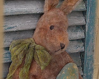 Primitive E-PATTERN Standing Rabbit with Eggs Bunny Doll PDF