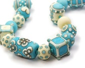 MADE TO ORDER Skywriter Lampwork Glass Bead Necklace