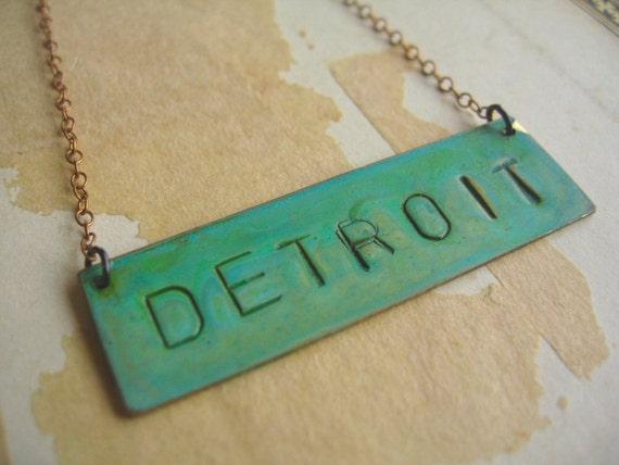 Detroit Patina Necklace