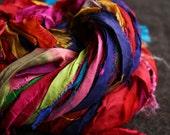 recycled silk ribbon - 60grm - rainbow