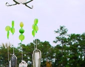 Lime Gum Drop Wind Chime (Silverplate Fork and Spoon)