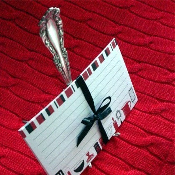 Fork Easel w\/ Recipe Cards (Monograms Available)