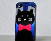 Phone Case - Doctor Who Inspired Bowtie Kitty Cat  - Hard Case for iPhone 4/4s, iPhone 5, iPod Touch 4, iPod Touch 5, Galaxy S3, Galaxy S4