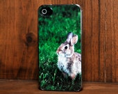 Phone Case - Bunny Rabbit Photo - Hard Case for iPhone 4, 4s, 5, 5s, 5c, 6, 6 Plus - iPod Touch 4, 5 - Galaxy S3, S4, S5