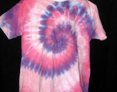 Pretty in Pink and Purple Tye Dye Youth Tshirt Small