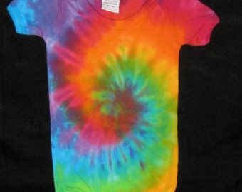 3 mos Over the Rainbow Tye Dye One Piece Romper