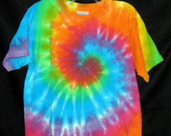 Over The Rainbow Tye Dye  Toddler Tshirt 3T