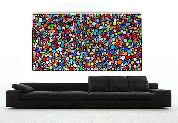 Function or Form Large Acrylic Painting