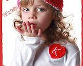Boutique Custom Crochet Valentines Heart onesie shirt DBCB Etsykids baby layette