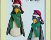Tiny Little Primitive Penguin Ornaments ePattern PDF T2T SSODS
