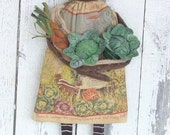 Primitive Black Annie with Garden Veggies E-pattern BOGO T2T SSODS Instant Download