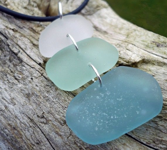 TRANQUIL - Large Sea Glass Necklace