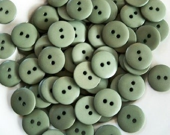 Vintage Sage Green Buttons - Lot of 40