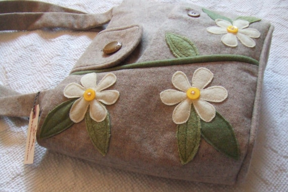 Lazy Daisy Repurposed wool BLAZER Bag