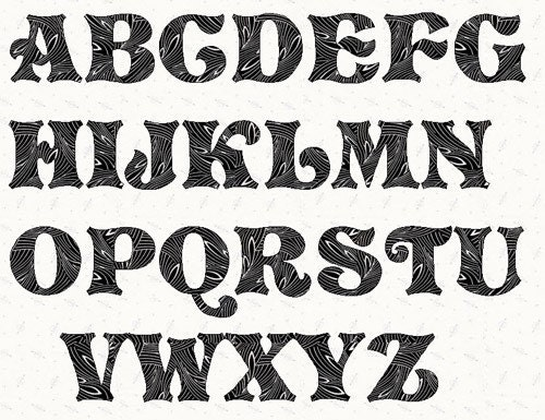 Printable Alphabet Story Book Font Template Pattern In Pdf
