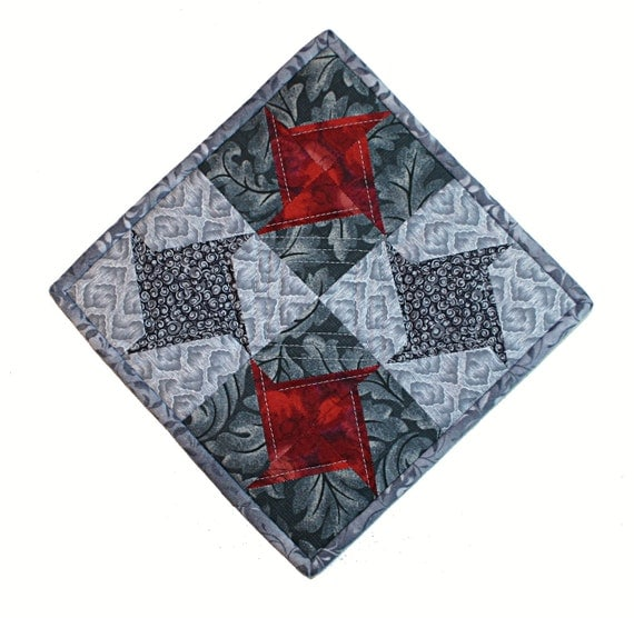 Quilted Pot Holder/Kitchen Quilt