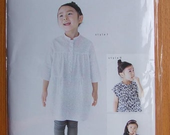 M108 KIDS TIERED Blouse from M Pattern - Japanese