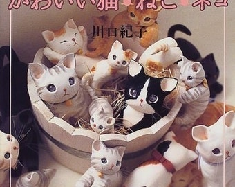 CLAY WORKS Handmade CATS - Japanese Craft Book
