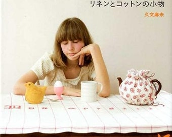 Natural and Cute Linen Cotton Goods - Japanese Craft Book