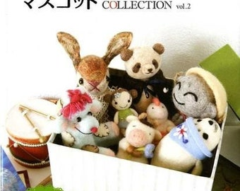 NEEDLE FELT MASCOT Collection 2 - Japanese Craft Book